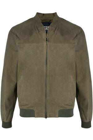 HERNO Men Leather Jackets - Suede bomber jacket