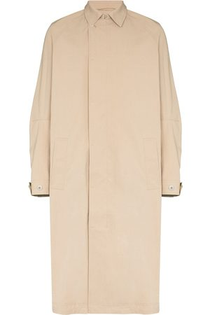 TOM WOOD Button-up trench coat - Neutrals