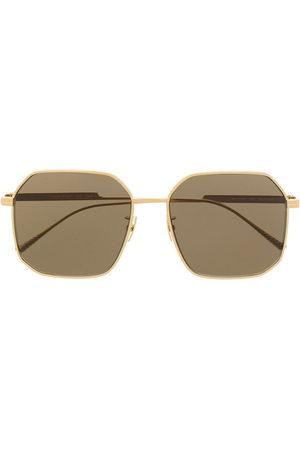 Bottega Veneta Square-frame titned sunglasses