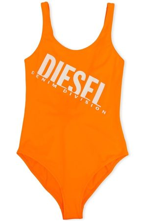 Diesel Kids Girls Swimsuits - TEEN logo-print swimsuit