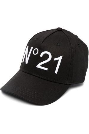 Nº21 Girls Caps - Logo-print baseball cap