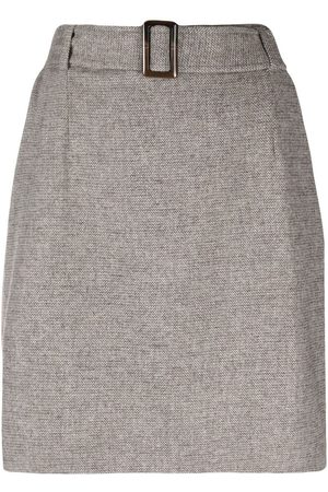 12 STOREEZ Women Mini Skirts - Belted mini skirt - Neutrals
