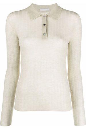 12 STOREEZ Women Polo Shirts - Sheer knit polo top