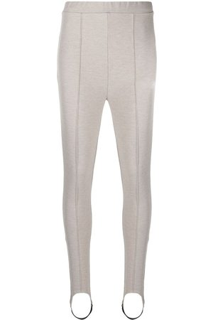 12 STOREEZ High-rise stirrup leggings - Neutrals