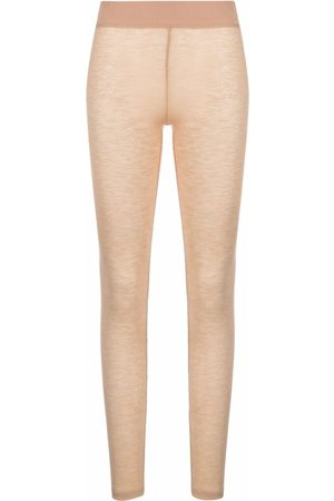 12 STOREEZ Women Leggings - Knitted merino leggings - Neutrals
