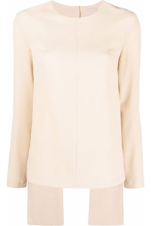 12 STOREEZ Long-sleeve open-back top - Neutrals