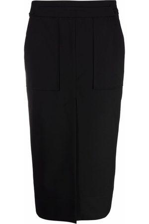 12 STOREEZ Front-slit midi skirt