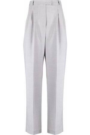 12 STOREEZ High-waisted wool-blend trousers - Grey