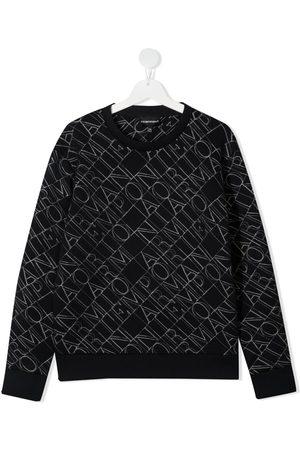 Emporio Armani All-over logo print sweatshirt