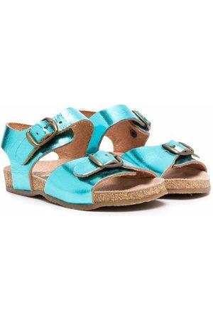 PèPè Metallic buckle sandals