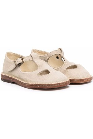 PèPè Woven-texture sandals - Neutrals