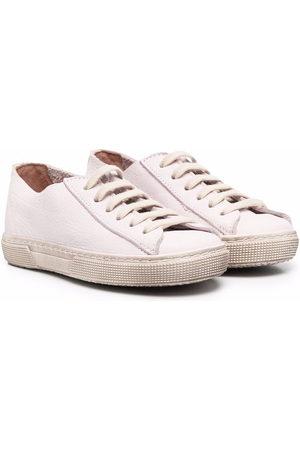 PèPè Gessetto leather trainers