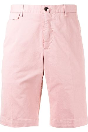 PT01 Men Bermudas - Mid-rise cotton bermuda shorts