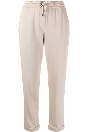 Brunello Cucinelli Cropped leg track pants - Neutrals
