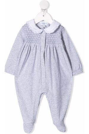 SIOLA Pajamas - Textured panel stretch-cotton pajama - Grey