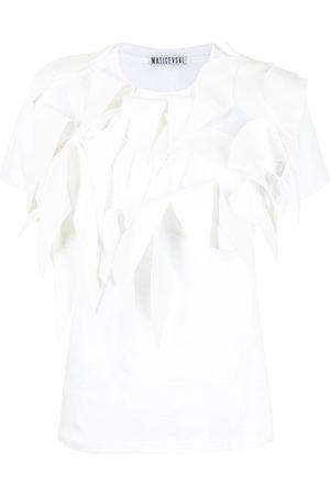 MATICEVSKI Women T-shirts - Appliqué-detail cotton T-Shirt
