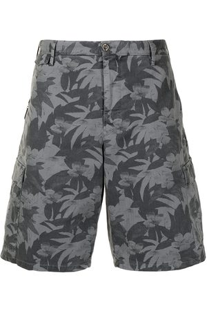 PT01 Leaf-print bermuda shorts - Grey