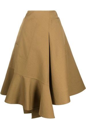 Colville Asymmetric midi skirt