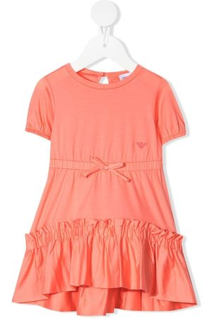 Emporio Armani Baby Casual Dresses - Bow-detail ruffled dress