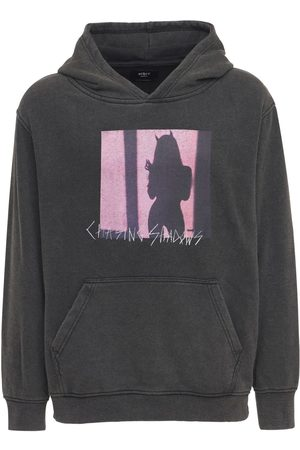 The Other Devil In Disguise Print Cotton Hoodie