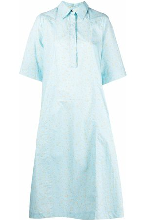Ganni Floral pattern shirt dress