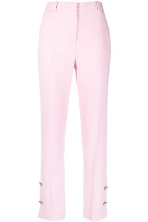 VERSACE Women Skinny Pants - Button-embellished skinny trousers