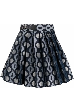 Charles Jeffrey Loverboy Caterpillar-print pleated mini skirt