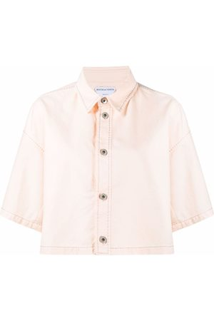 Bottega Veneta Cropped denim shirt - Neutrals
