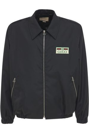 Gucci Logo Patch Lightweight Canvas Ny Jacket