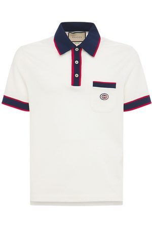 Gucci Men Polo Shirts - Interlocking G Cotton Piquet Polo
