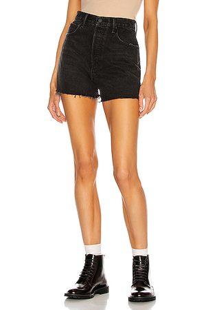 GRLFRND Women Shorts - Jules Super High Rise Vintage Short in Black