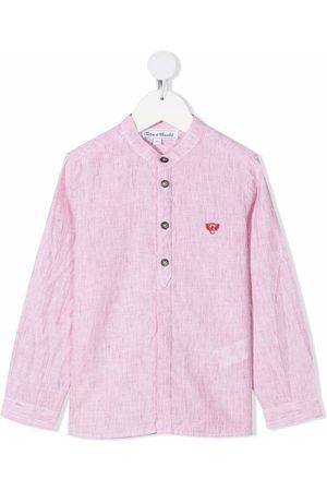 Tartine Et Chocolat Boys Shirts - Pinstripe button-front shirt
