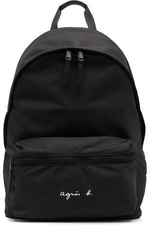 AGNÈS B. Logo-print backpack