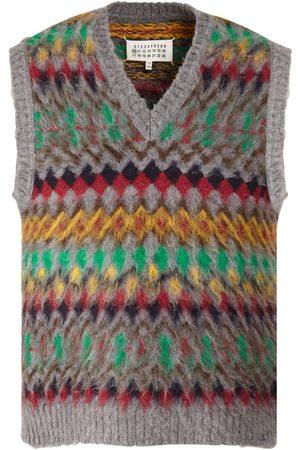 Maison Margiela Men Tank Tops - V Neck Wool Knit Vest