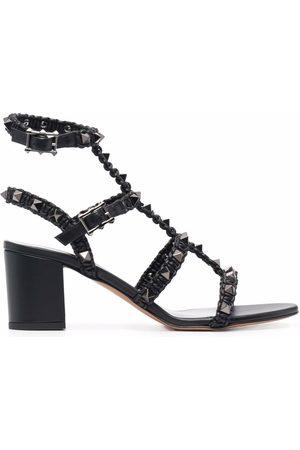 VALENTINO GARAVANI Rockstud braided 60mm sandals