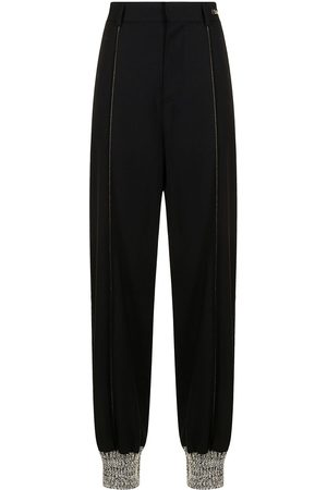 We11 Done Women Straight Leg Pants - High-waisted straight-leg trousers