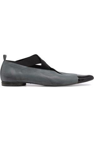 UMA WANG Two-tone ballerina shoes - Grey