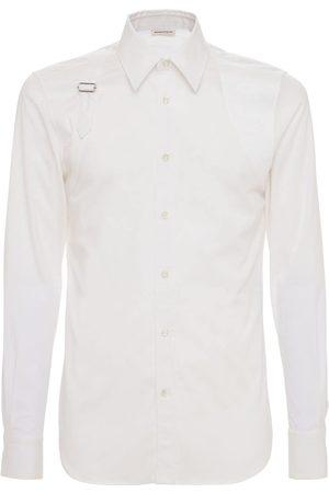 Alexander McQueen Men Shirts - Skull Harness Stretch Cotton Shirt