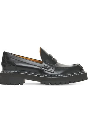Proenza Schouler Women Loafers - 30mm Lug Brushed Leather Loafers