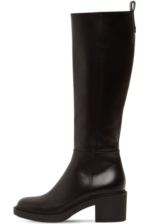 Gianvito Rossi 45mm Ollie Leather Tall Boots