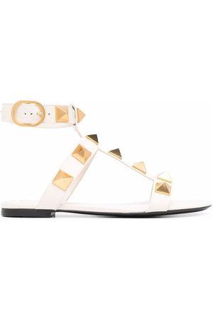 VALENTINO GARAVANI Roman Stud ankle-strap sandals - Neutrals