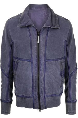 ISAAC SELLAM EXPERIENCE Funnel neck leather jacket