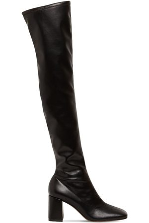 Gianvito Rossi 70mm Stretch Faux Leather Tall Boots
