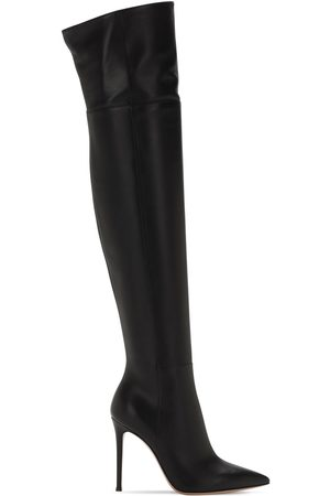 Gianvito Rossi Women Thigh High Boots - 105mm Bea Leather Over-the-knee Boots