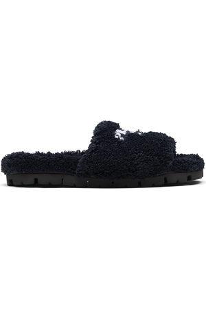 Prada Women Slippers - Embroidered-logo slippers