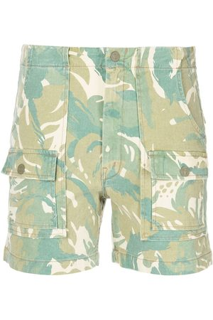 Mother Camouflage-print high-waisted shorts - Multicolour
