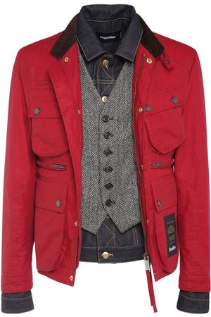 Dsquared2 Wax Cotton Boobou Tri Layer Jacket