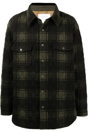 READYMADE Checked padded wool jacket
