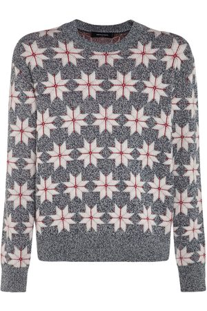 Dsquared2 Wool Jacquard Knit Sweater