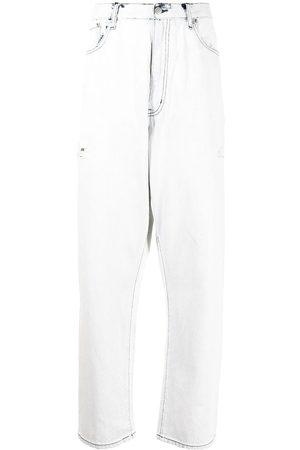 Izzue Men Wide Leg - Wide contrast-stitch jeans